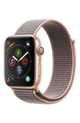 Смарт-часы Apple Watch Series 4 (GPS) 44mm Gold Aluminium Case with Pink Sand Sport Loop | Фото №1