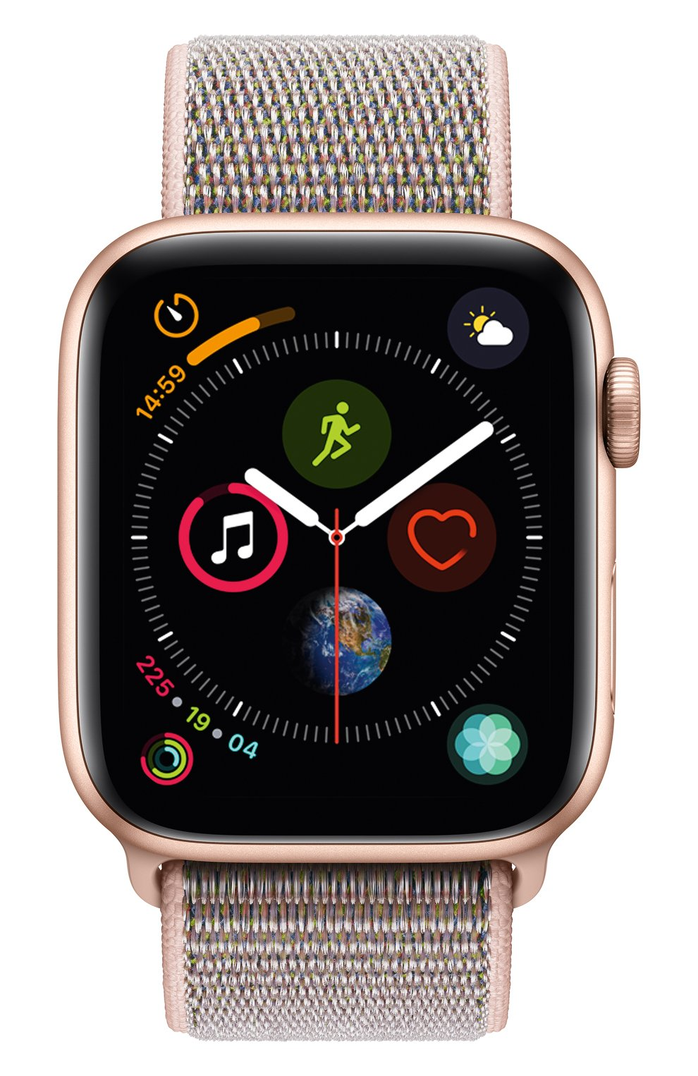 Apple Watch Series 4 (GPS) 44mm Gold Aluminium Case with Pink Sand Sport Loop | Фото №2