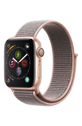 Смарт-часы Apple Watch Series 4 (GPS) 40mm Gold Aluminium Case with Pink Sand Sport Loop | Фото №1