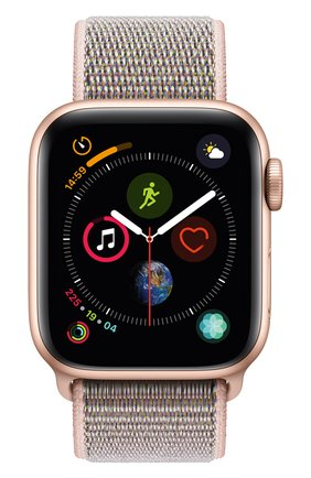 Смарт-часы Apple Watch Series 4 (GPS) 40mm Gold Aluminium Case with Pink Sand Sport Loop | Фото №2