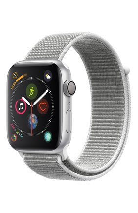 Смарт-часы Apple Watch Series 4 (GPS) 44mm Silver Aluminium Case with Seashell Sport Loop | Фото №1