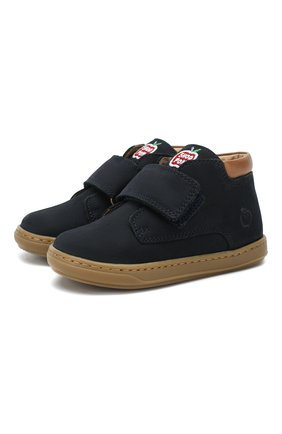 Замшевые ботинки с застежкой велькро | Фото №1