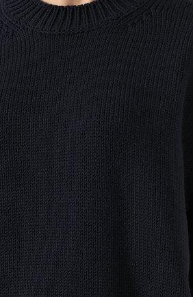 Шерстяной пуловер со спущенным рукавом Mansur Gavriel темно-синий | Фото №5