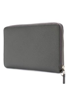 Женские кожаный футляр для документов на молнии  SMYTHSON темно-серого цвета, арт. 1021939   Фото 2