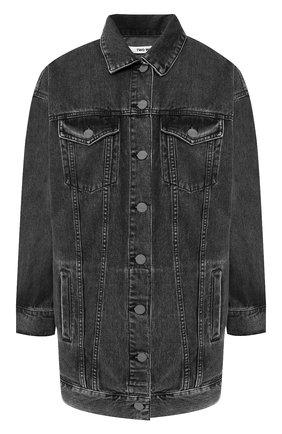 Джинсовая куртка с вышитым принтом на спине