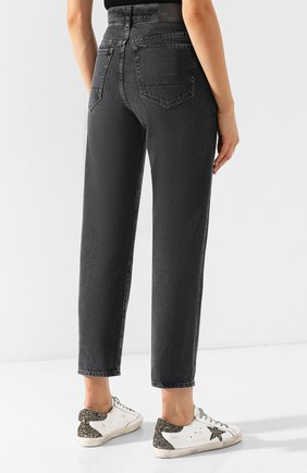 Укороченные джинсы с потертостями Two Women In The World серые | Фото №4