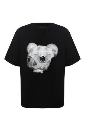 Хлопковая футболка с декоративной отделкой   Фото №1