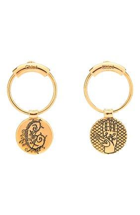 Женские серьги emoji CHLOÉ золотого цвета, арт. CHC18WFE38CB7 | Фото 1