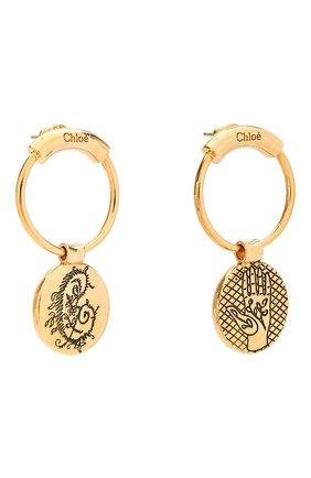 Женские серьги emoji CHLOÉ золотого цвета, арт. CHC18WFE38CB7 | Фото 3