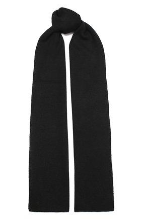 Мужской шерстяной шарф civil CANOE черного цвета, арт. 4805810 | Фото 1