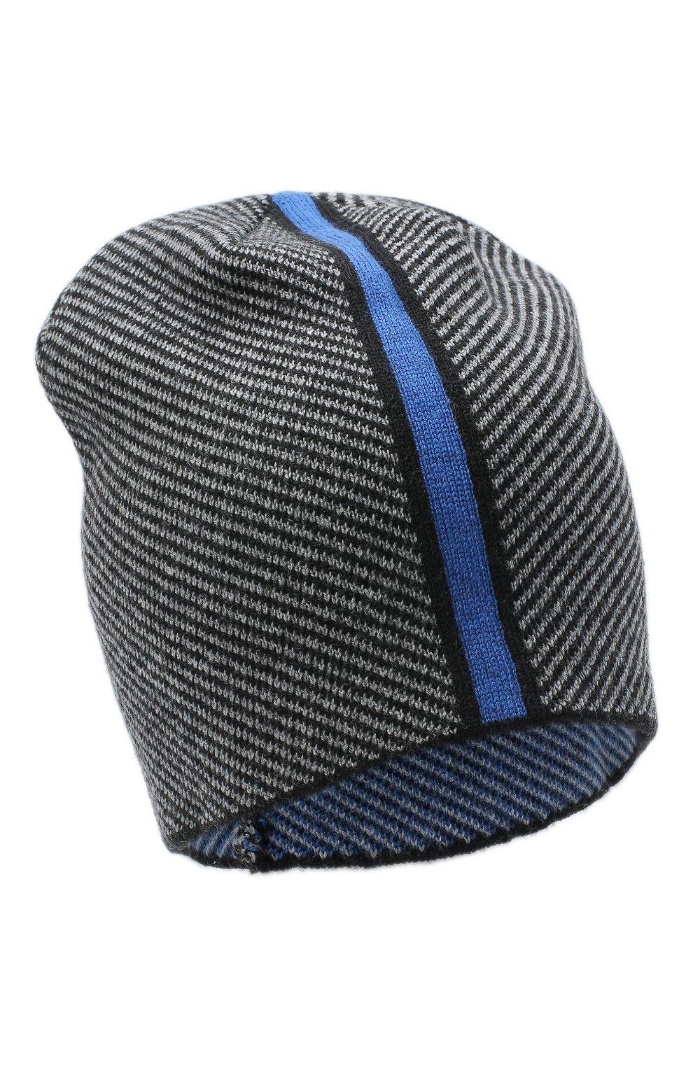 Мужская шерстяная шапка CANOE серого цвета, арт. 3441996 | Фото 1 (Материал: Шерсть; Кросс-КТ: Трикотаж; Статус проверки: Проверено, Проверена категория)