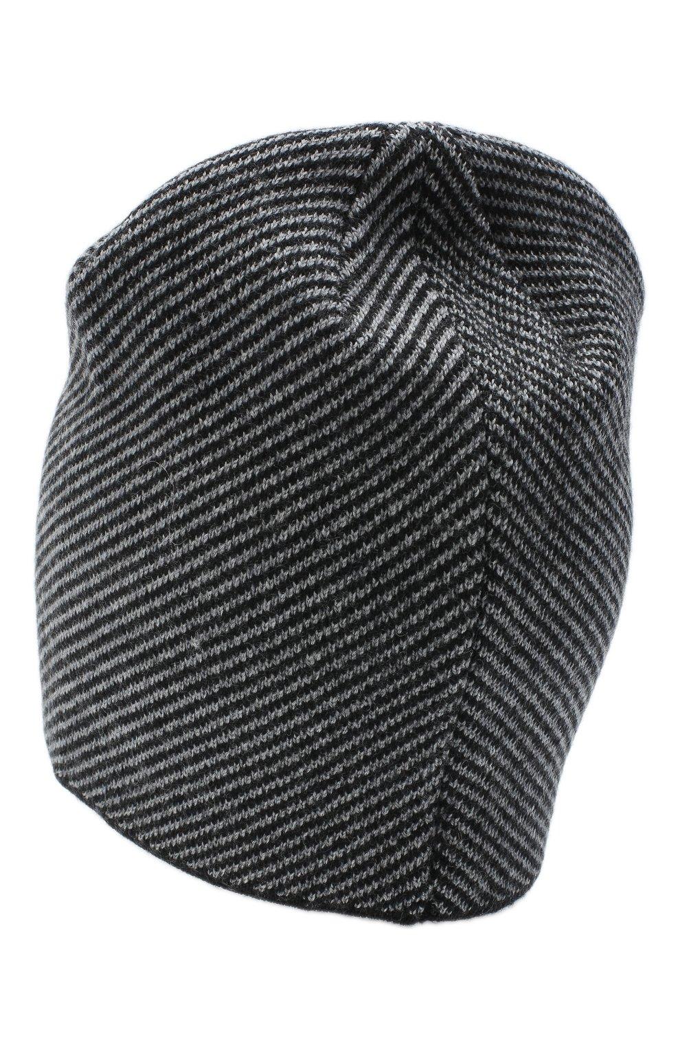 Мужская шерстяная шапка CANOE серого цвета, арт. 3441996 | Фото 2 (Материал: Шерсть; Кросс-КТ: Трикотаж; Статус проверки: Проверено, Проверена категория)