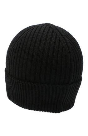 Мужская шерстяная шапка agent CANOE черного цвета, арт. 3449161 | Фото 2