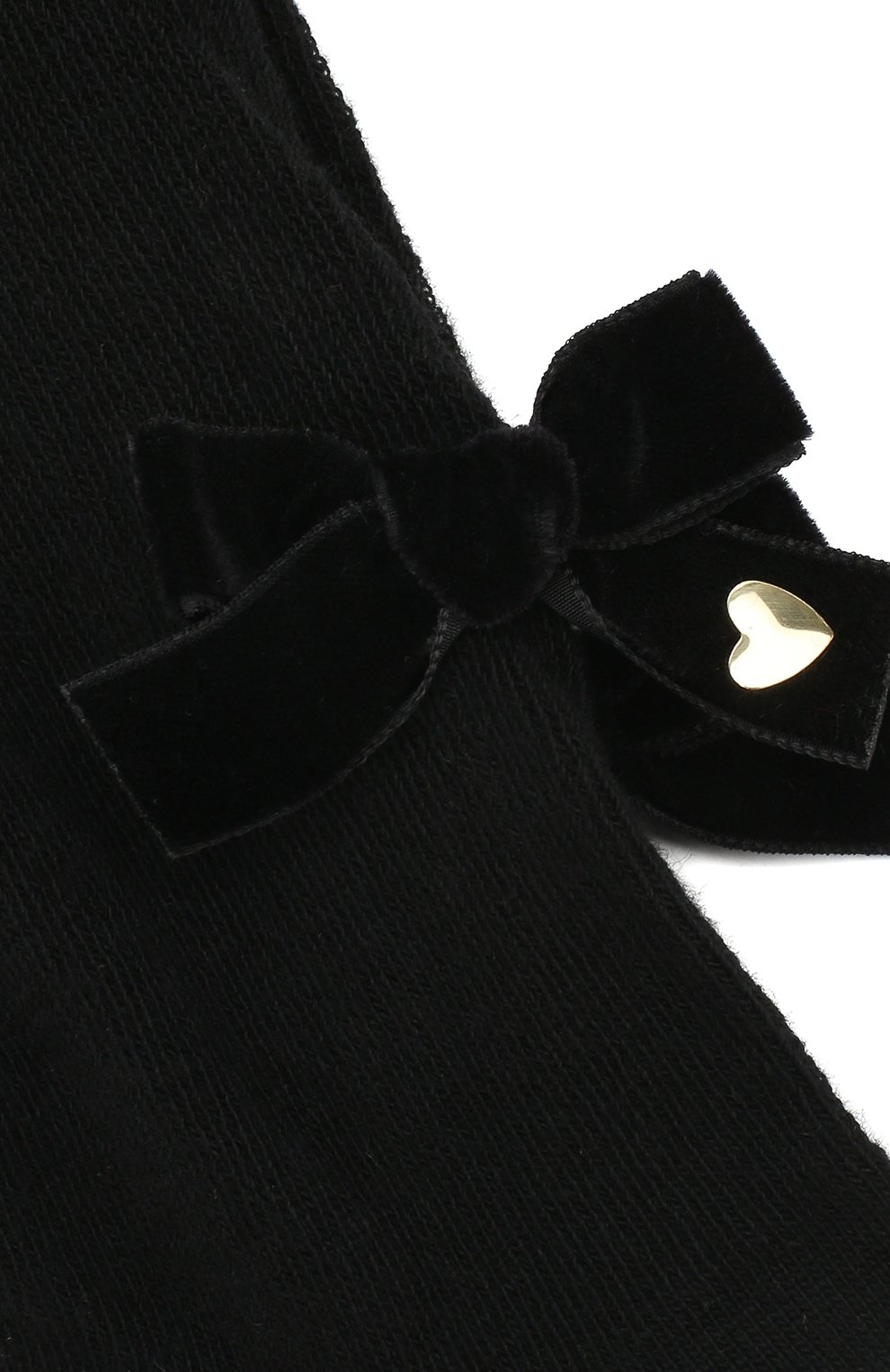 Детские колготки с бантом Twinset черного цвета | Фото №2