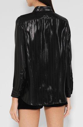 Шелковая блуза с отложным воротником | Фото №4