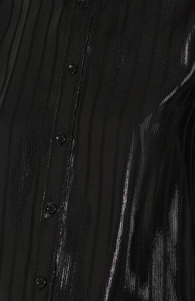 Шелковая блуза с отложным воротником | Фото №5