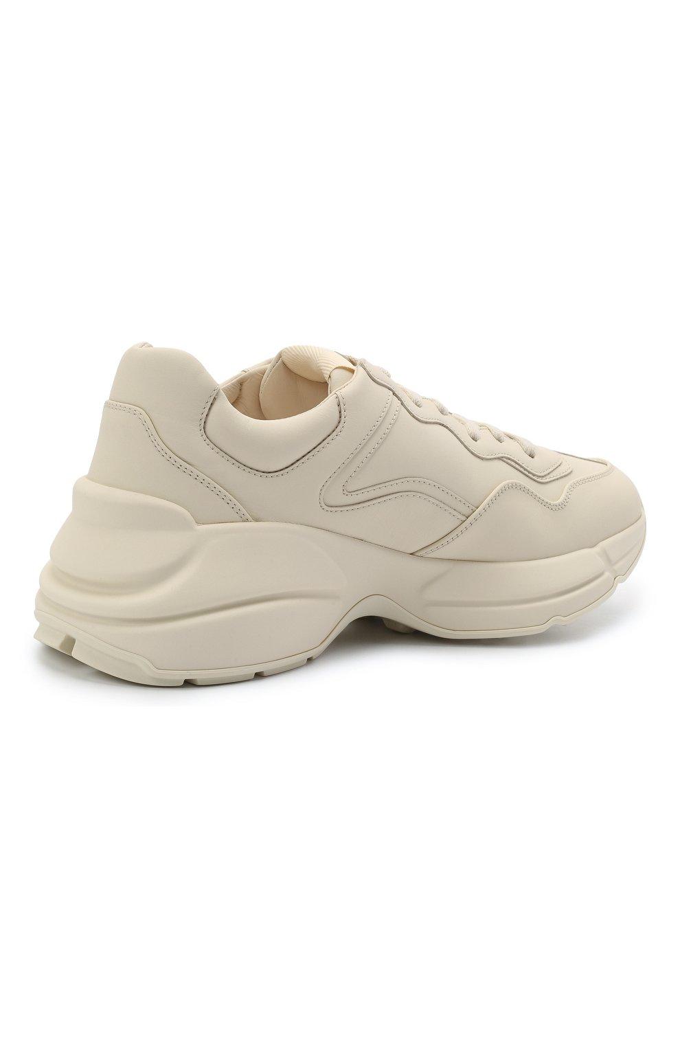 Кожаные кроссовки Rhyton на шнуровке | Фото №4