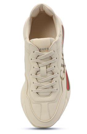 Кожаные кроссовки Rhyton на шнуровке | Фото №5