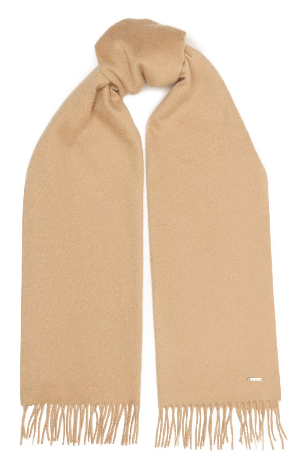 Женский кашемировый шарф grande unita LORO PIANA бежевого цвета, арт. FAA1056   Фото 1 (Материал: Кашемир, Шерсть; Статус проверки: Проверена категория)