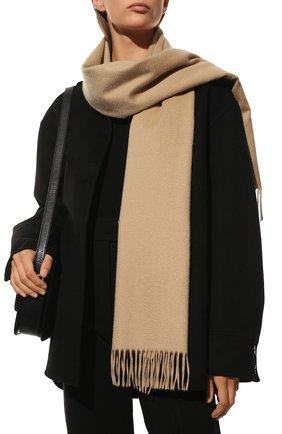 Женский кашемировый шарф grande unita LORO PIANA бежевого цвета, арт. FAA1056   Фото 2 (Материал: Кашемир, Шерсть; Статус проверки: Проверена категория)