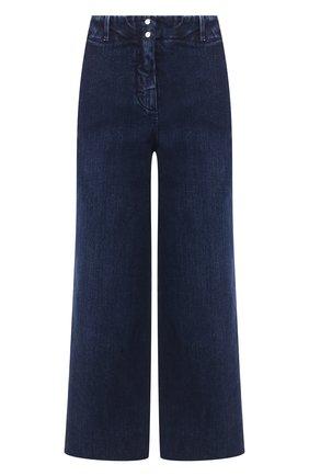 Женские укороченные джинсы с потертостями LORO PIANA синего цвета, арт. FAI2679 | Фото 1