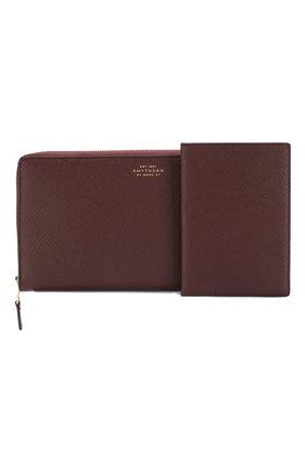 Комплект из кожаного портмоне и обложки для паспорта | Фото №1