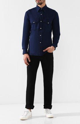 Мужские джинсы прямого кроя TOM FORD черного цвета, арт. BRJ20/TFD002 | Фото 2