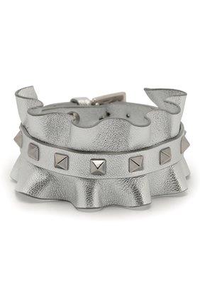 Кожаный браслет Valentino Garavani Rockstud | Фото №1