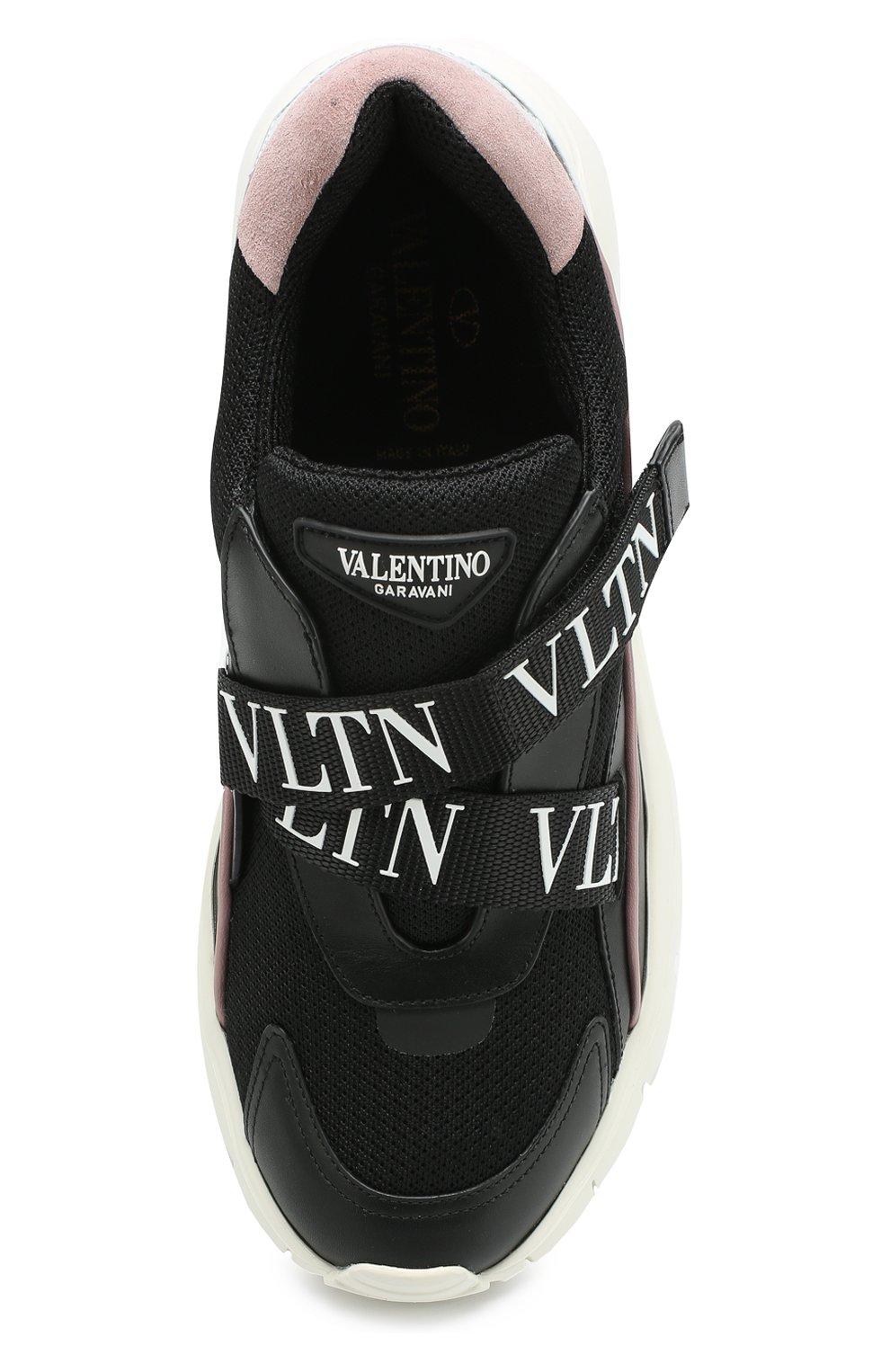 bb29efcf15d2 Женские черные комбинированные кроссовки valentino garavani heroes ...
