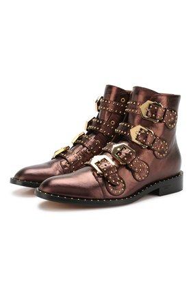 Ботинки Elegant Studs из металлизированной кожи с заклепками | Фото №1