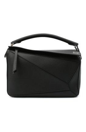Женская сумка puzzle LOEWE черного цвета, арт. 322.30.S20 | Фото 1