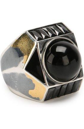 Серебряное кольцо с отделкой | Фото №1