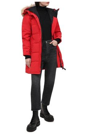 Женский пуховик shelburne CANADA GOOSE красного цвета, арт. 3802L | Фото 2