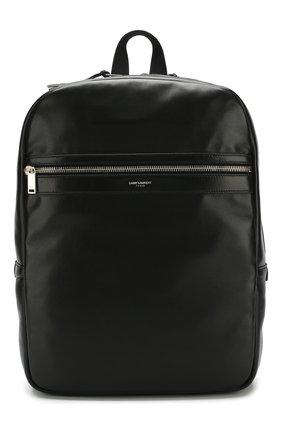 Кожаный рюкзак City с внешним карманом на молнии | Фото №1