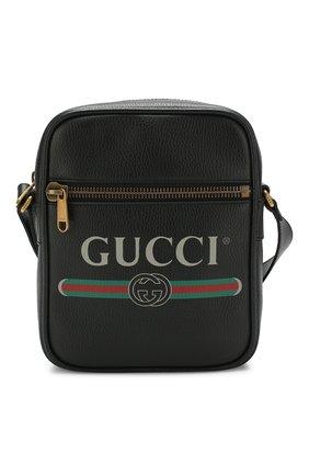 Кожаная сумка-планшетс логотипом бренда | Фото №1