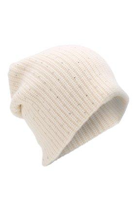 Кашемировая шапка фактурной вязки со стразами | Фото №1