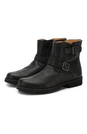 Кожаные ботинки на молнии | Фото №1