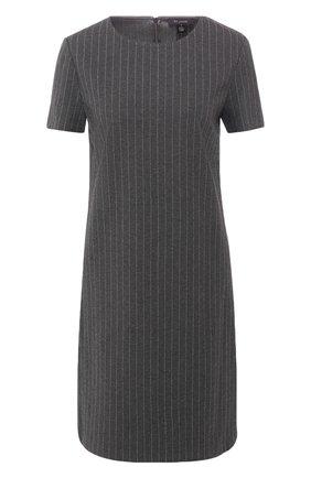 Платье прямого кроя в полоску | Фото №1