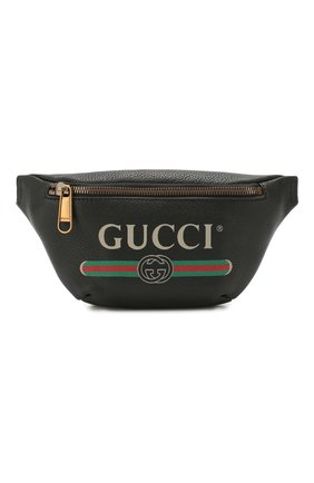Кожаная поясная сумка Gucci Print small   Фото №1