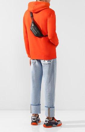 Кожаная поясная сумка Gucci Print small | Фото №2