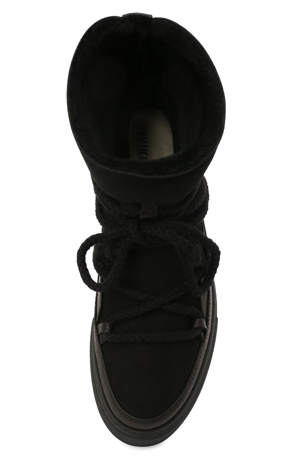 Мужские замшевые сапоги INUIKII черного цвета, арт. 50202-1 | Фото 5 (Материал внешний: Кожа, Замша; Материал утеплителя: Натуральный мех, Овчина; Мужское Кросс-КТ: зимние сапоги, Сапоги-обувь; Статус проверки: Проверено, Проверена категория; Подошва: Массивная)