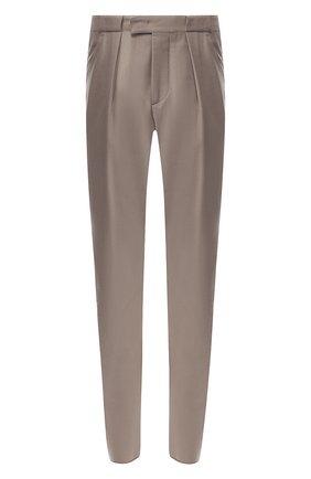 Мужские шерстяные брюки GIORGIO ARMANI бежевого цвета, арт. 8WGPP01F/T004K   Фото 1