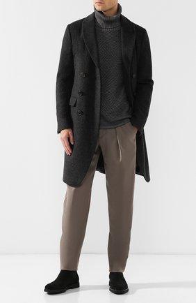 Мужские шерстяные брюки GIORGIO ARMANI бежевого цвета, арт. 8WGPP01F/T004K   Фото 2