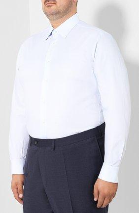 Мужская хлопковая сорочка с воротником кент BRIONI голубого цвета, арт. RCLU0W/07096 | Фото 3