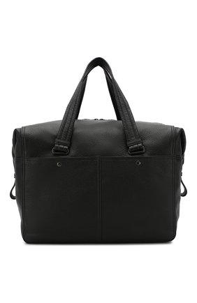 Кожаная дорожная сумка на молнии с плечевым ремнем | Фото №1