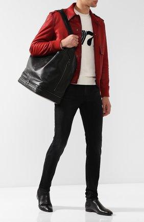 Мужская кожаная сумка-шопер BOTTEGA VENETA черного цвета, арт. 533428/VBJ83 | Фото 2