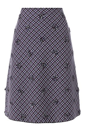 Шерстяная юбка с декоративной отделкой | Фото №1