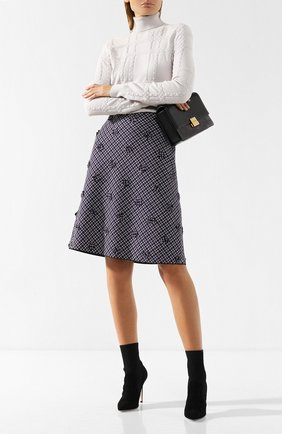Шерстяная юбка с декоративной отделкой | Фото №2