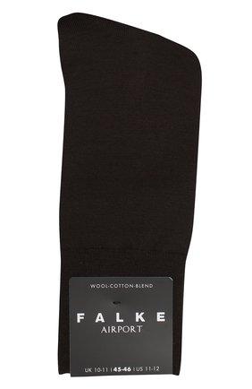 Мужские носки airport из смеси шерсти и хлопка FALKE темно-коричневого цвета, арт. 14435 | Фото 1