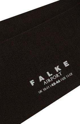 Мужские носки airport из смеси шерсти и хлопка FALKE темно-коричневого цвета, арт. 14435 | Фото 2